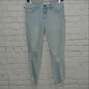 Cello Sz: 11 Extremely Distressed Light Blue Jeans